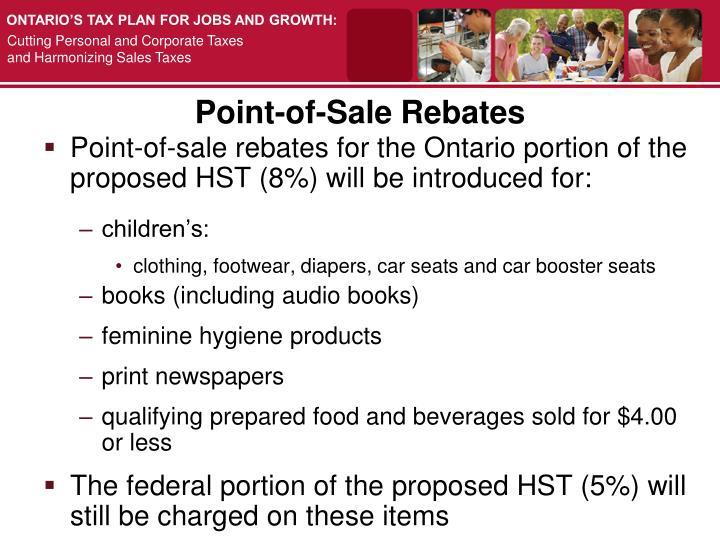 Point-of-Sale Rebates