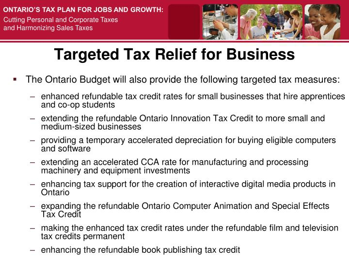 Targeted Tax Relief for Business