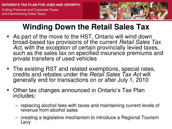 Winding Down the Retail Sales Tax