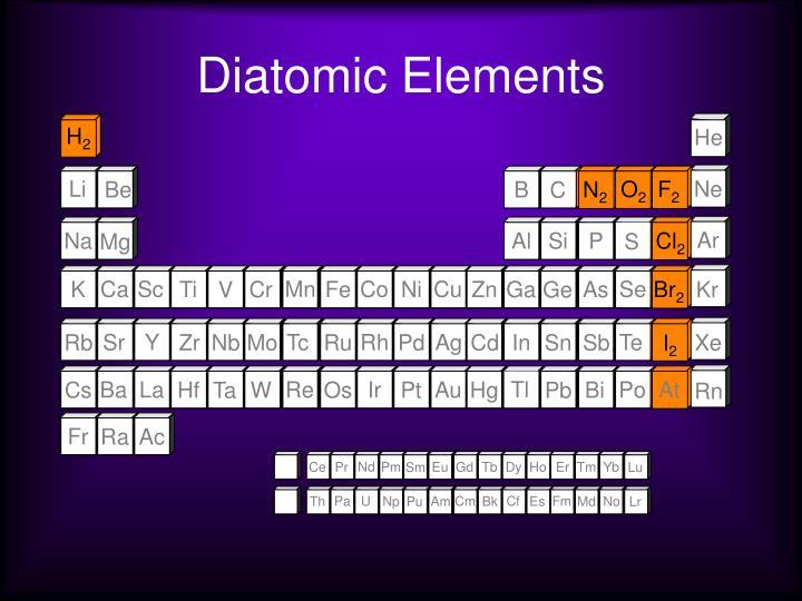Diatomic Elements