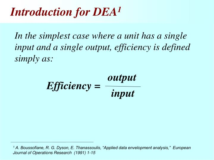 Introduction for DEA