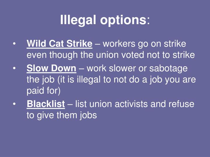 Illegal options
