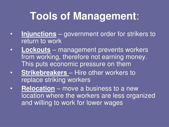 Tools of Management