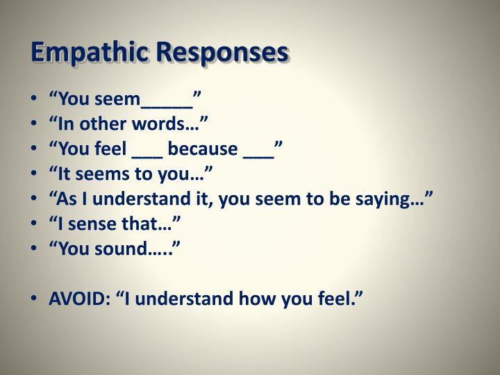 Empathic Responses