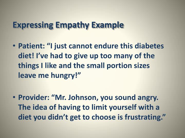 Expressing Empathy Example