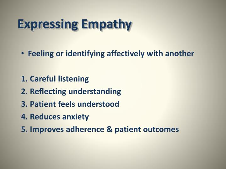 Expressing Empathy