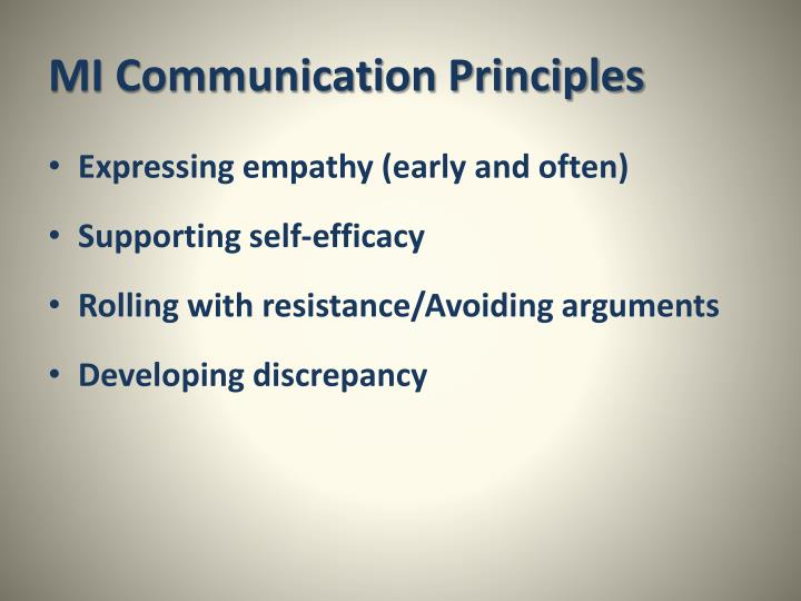 MI Communication Principles