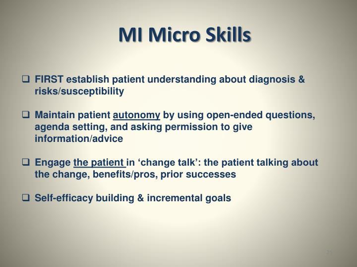 MI Micro Skills