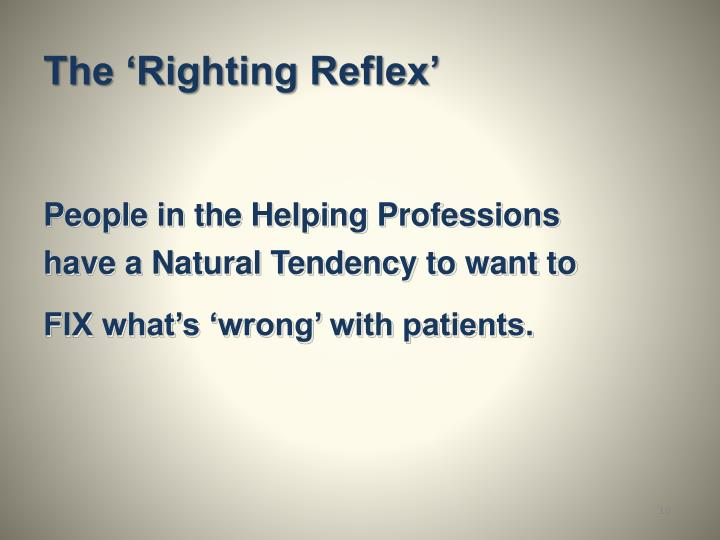 The 'Righting Reflex'