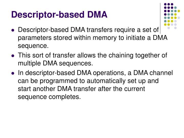 Descriptor-based DMA
