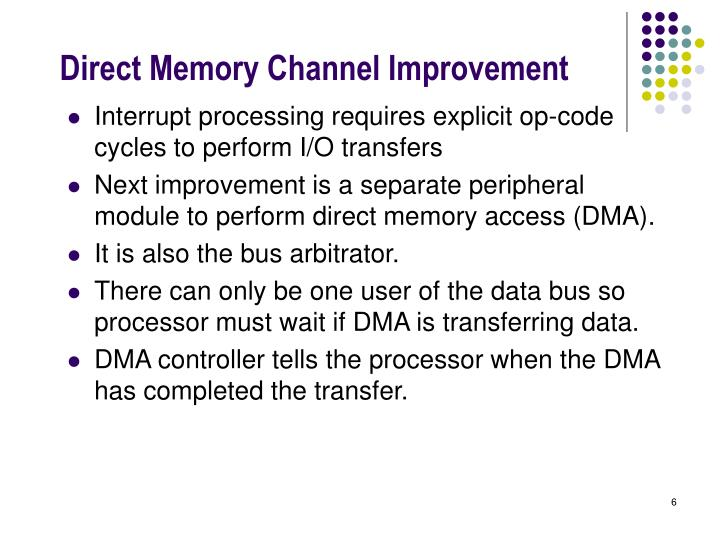 Direct Memory Channel Improvement