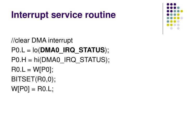 Interrupt service routine