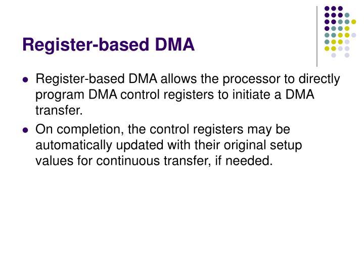 Register-based DMA