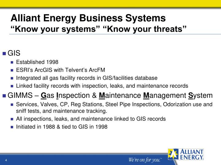 Alliant Energy Business Systems