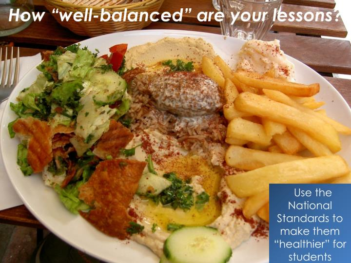 "How ""well-balanced"" are your lessons?"