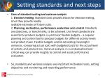 setting standards and next steps2