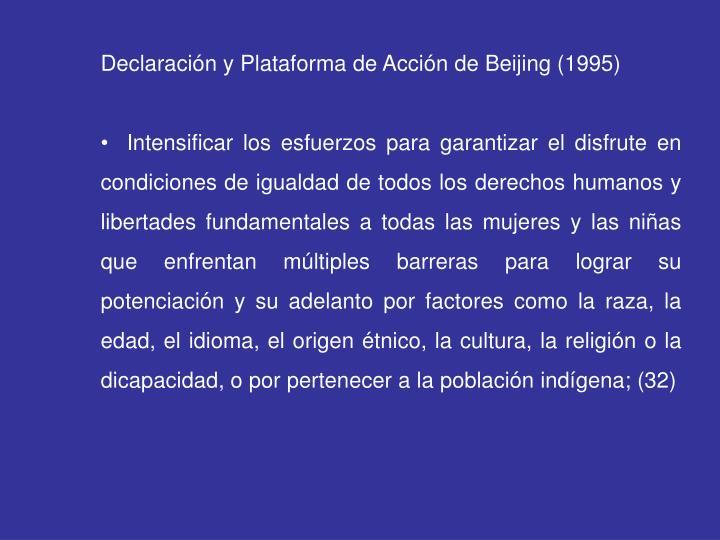 Declaración y Plataforma de Acción de Beijing (1995)