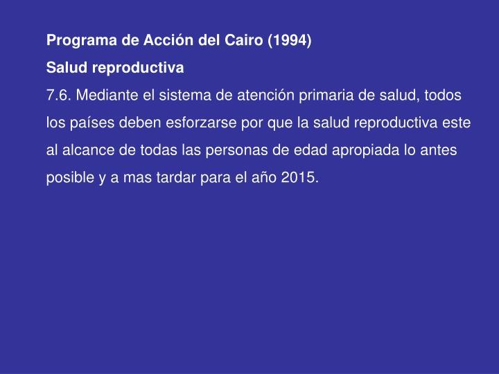 Programa de Acción del Cairo (1994)