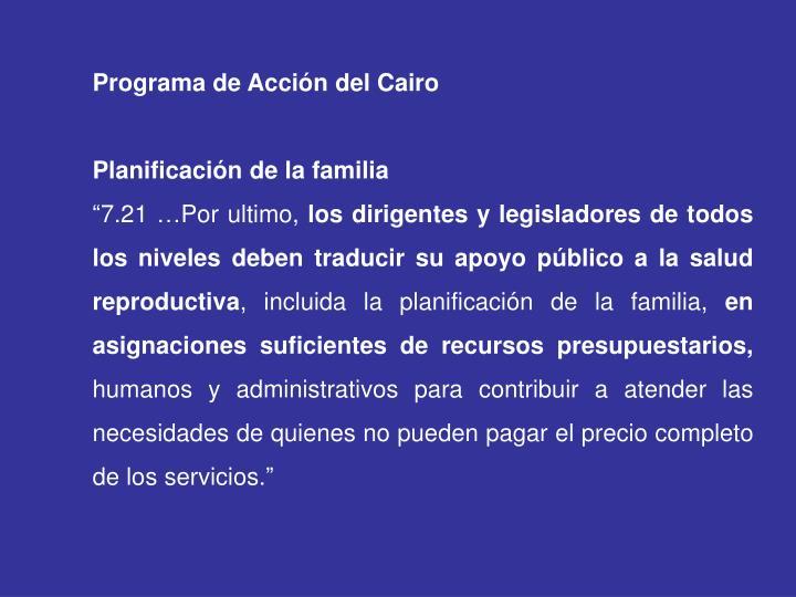 Programa de Acción del Cairo