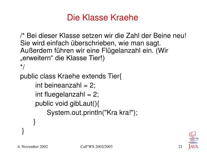 Die Klasse Kraehe