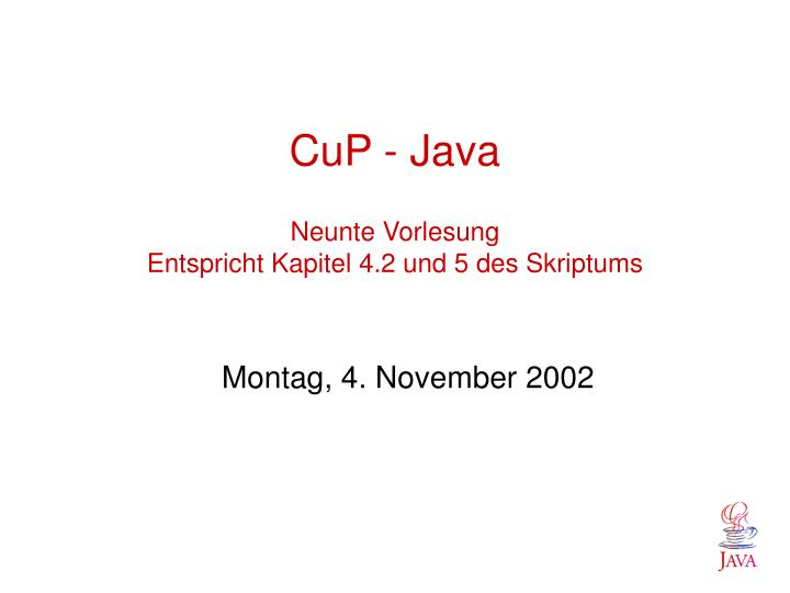 CuP - Java