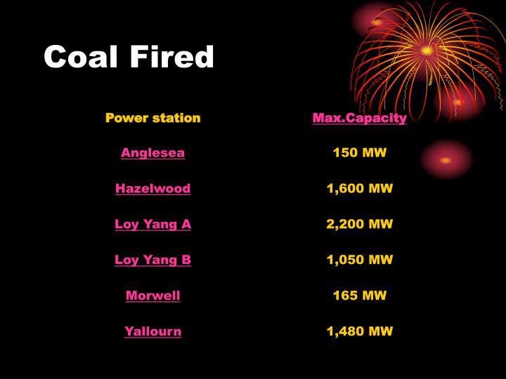 Coal Fired