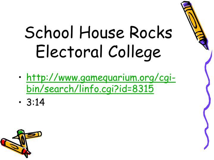 School House Rocks Electoral College