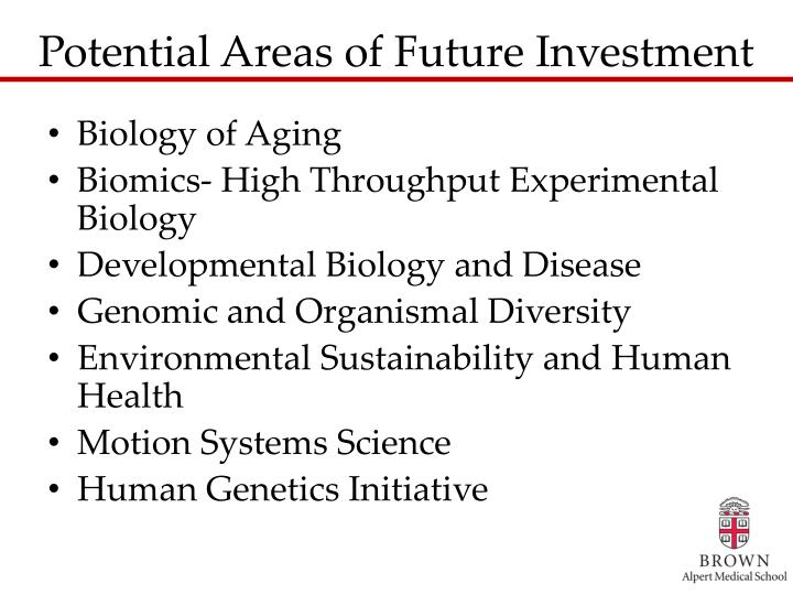 Potential Areas of Future Investment