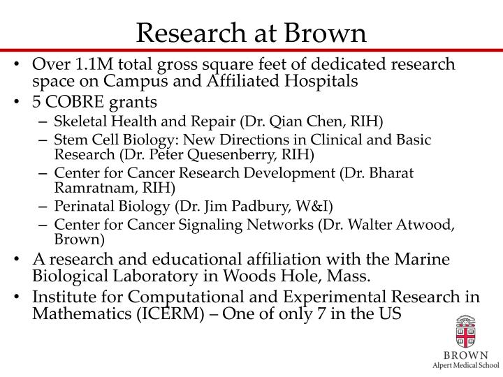 Research at Brown