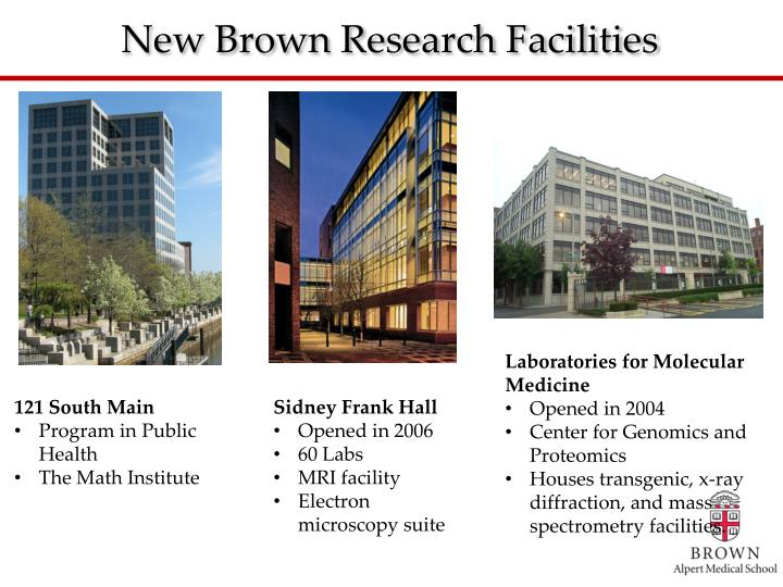 New Brown Research Facilities