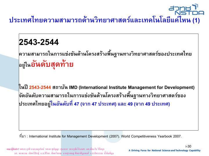 ประเทศไทยความสามารถด้านวิทยาศาสตร์และเทคโนโลยีแค่ไหน (1)
