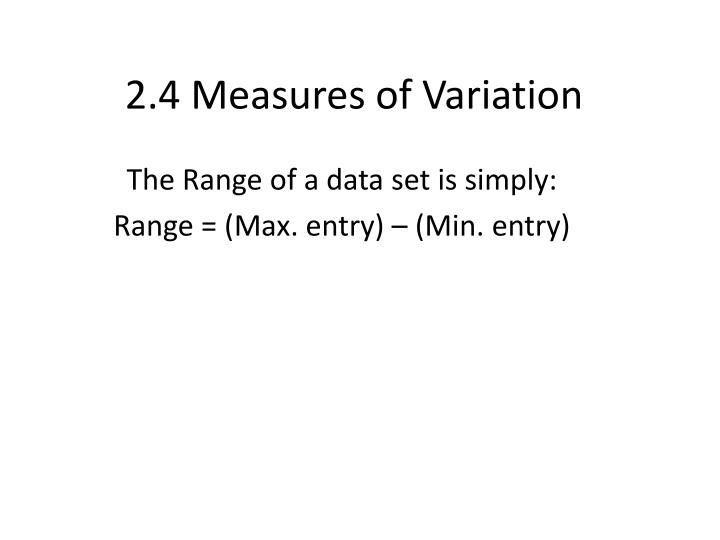 2 4 measures of variation