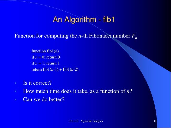 An Algorithm - fib1