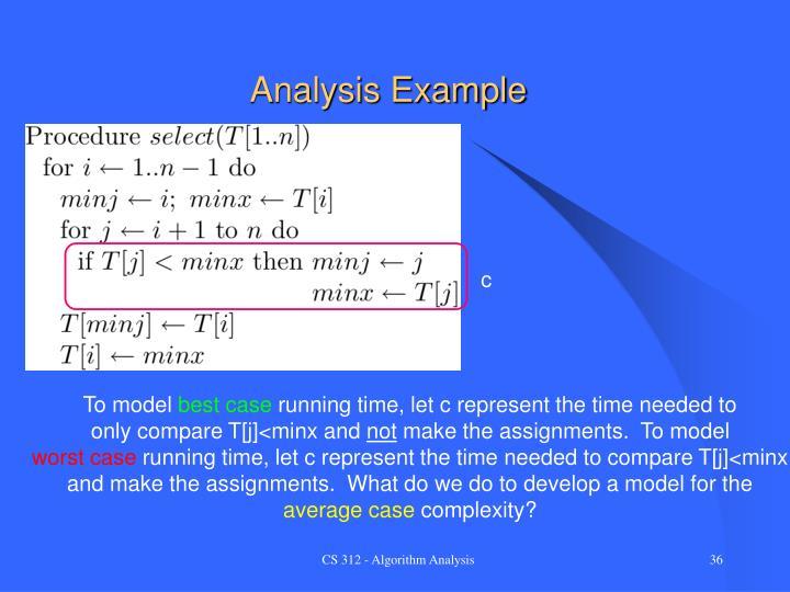 Analysis Example