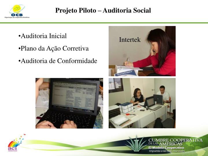 Projeto Piloto – Auditoria Social