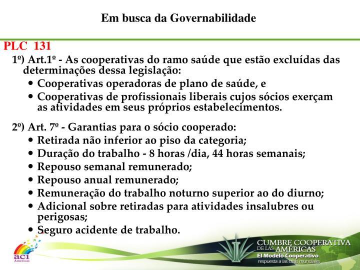 Em busca da Governabilidade