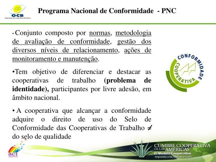 Programa Nacional de Conformidade  - PNC