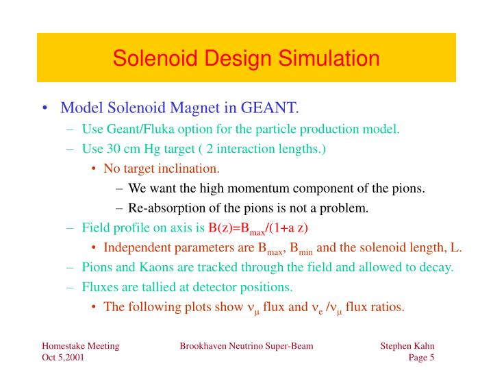 Solenoid Design Simulation