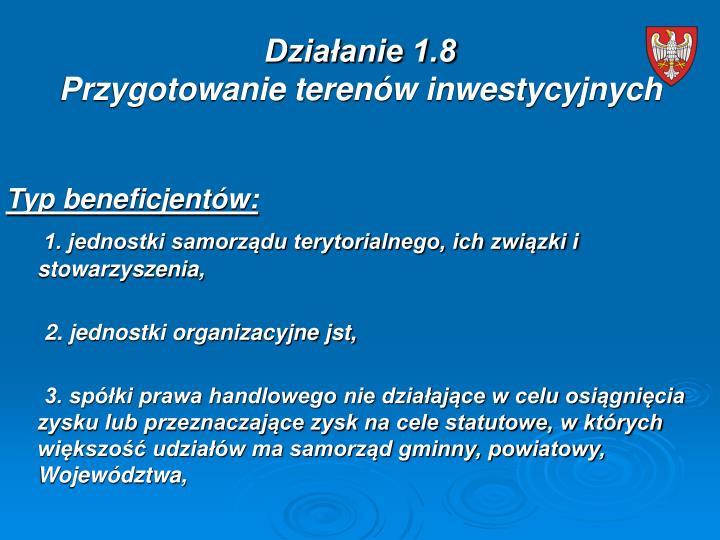 Działanie 1.8