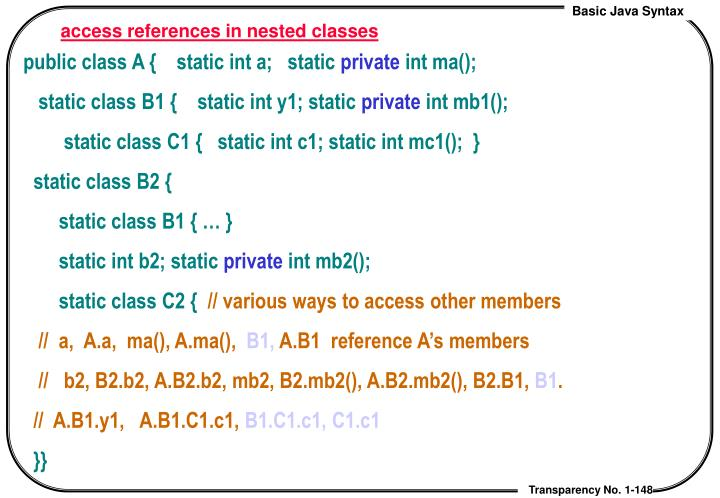 access references in nested classes