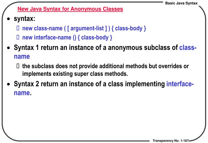 New Java Syntax for Anonymous Classes