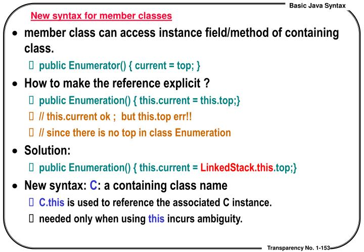 New syntax for member classes