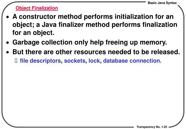 Object Finalization