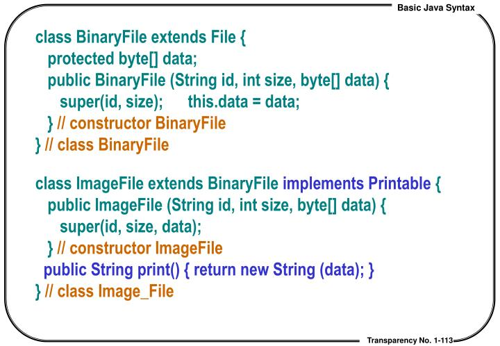 class BinaryFile extends File {