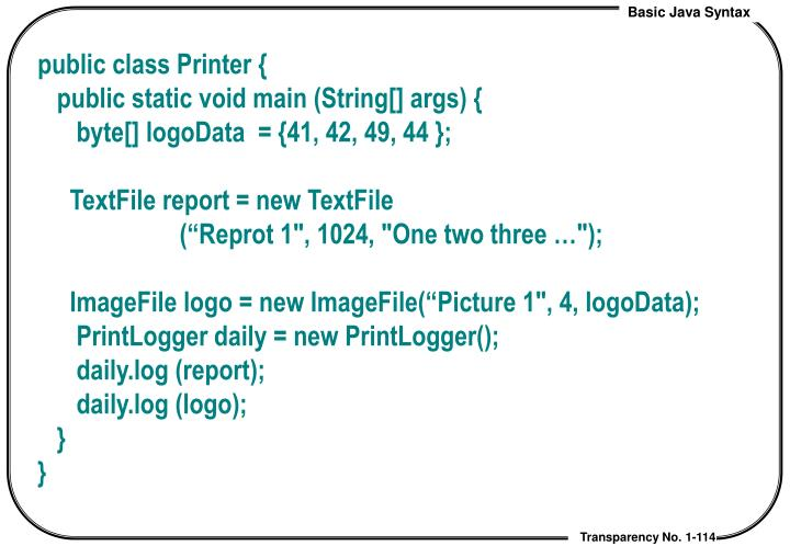 public class Printer {