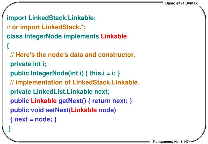 import LinkedStack.Linkable;