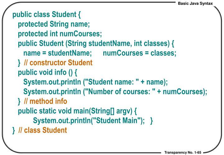 public class Student {