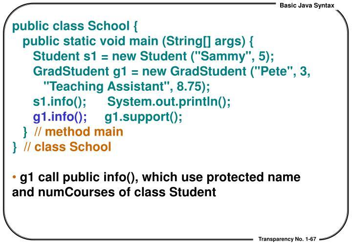 public class School {