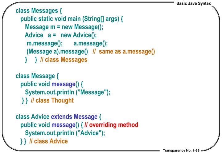 class Messages {