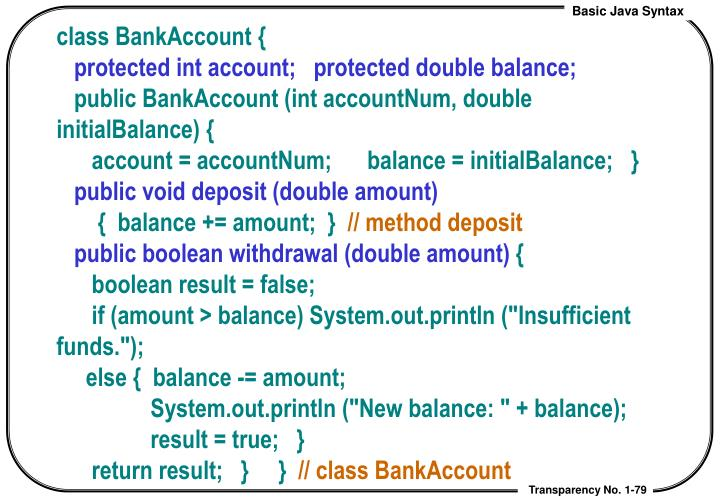 class BankAccount {
